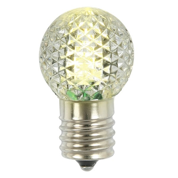 G30 Faceted LED WmWht Bulb E12 .38W