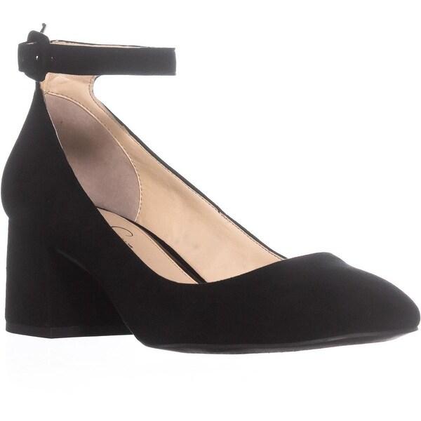 Jessica Simpson Mayven Ankle Strap Pumps, Black - 10 us / 40 eu