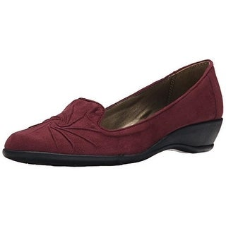 Hush Puppies Womens Rory Smoking Loafers Casual Mini Wedge