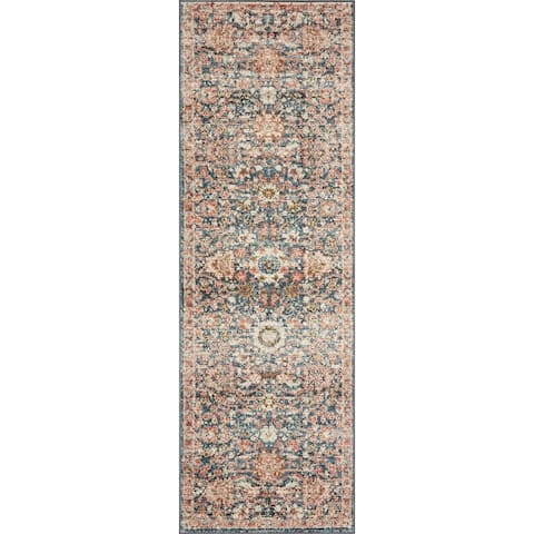 Alexander Home Valeria Distressed Shabby Chic Area Rug
