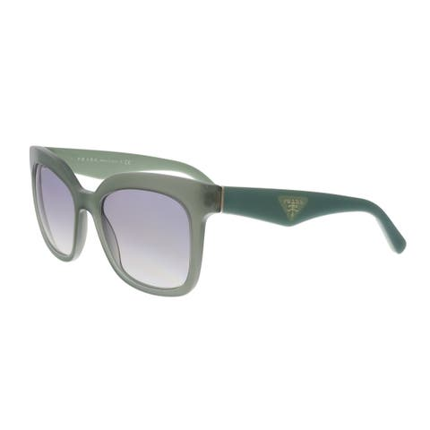 078f591884b44 Prada PR 24QS UEI4P2 Opal Dark Green Square Sunglasses - No Size