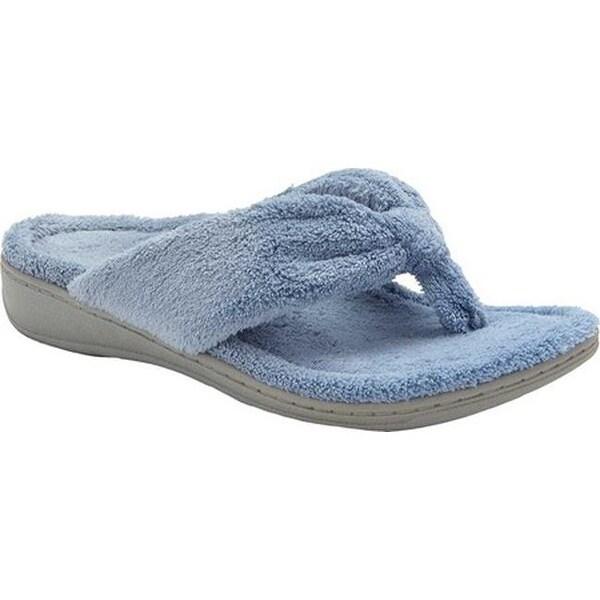 b48210a3c4e Shop Vionic Women s Gracie Thong Slipper Light Blue Textile - On ...