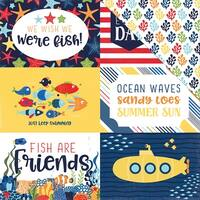 "Under The Sea Double-Sided Cardstock 12""X12""-4""X6"" Journaling Cards"