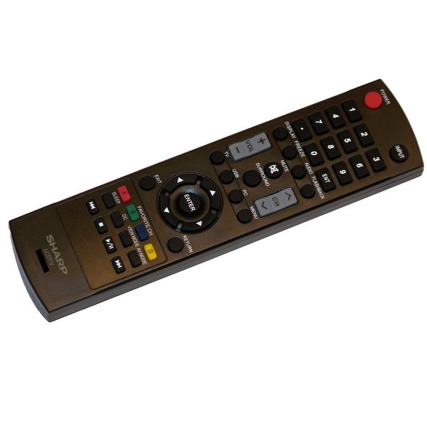 OEM Sharp Remote Control Originally Supplied With: LC42SV49U, LC-42SV49U, LC46SV49U, LC-46SV49U