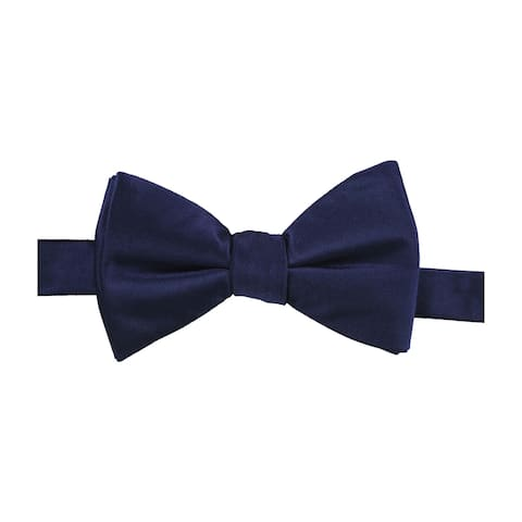 Alfani Mens Solid Pre-tied Bow Tie, blue, One Size - One Size