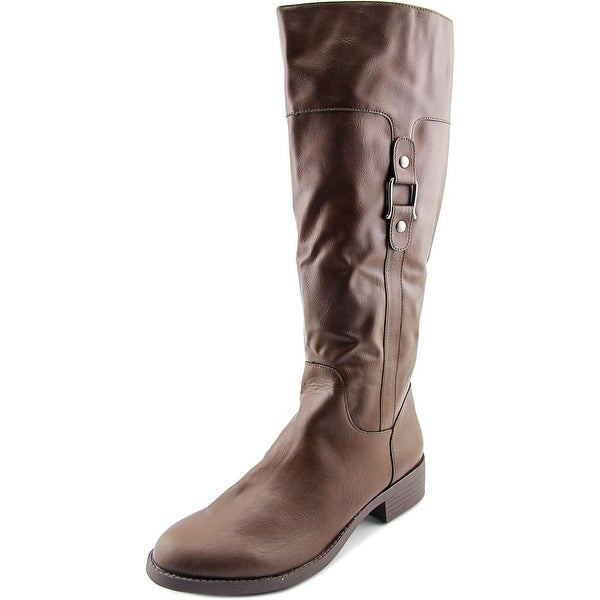 Style & Co Astarie Wide Calf Women Brown Boots