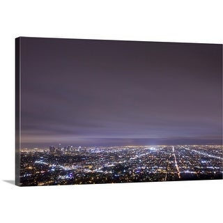 """Cityscape, Los Angeles."" Canvas Wall Art"