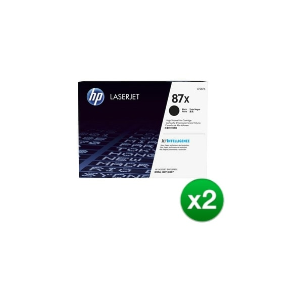 HP 87A XL Black Original LaserJet Toner Cartridges (CF287X)(2-Pack)