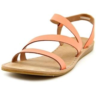 Lucky Brand Fastt Open-Toe Leather Slingback Sandal