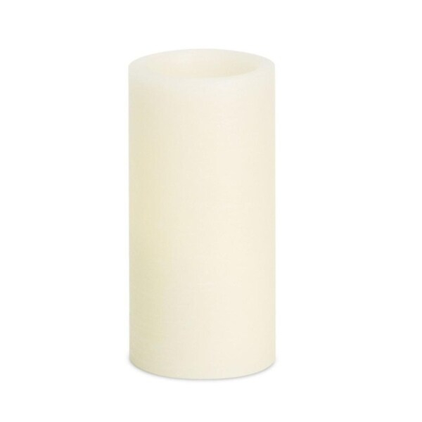 """Pack of 6 Elegant and Soothing White Flameless LED Pillar Candles 6"""""""