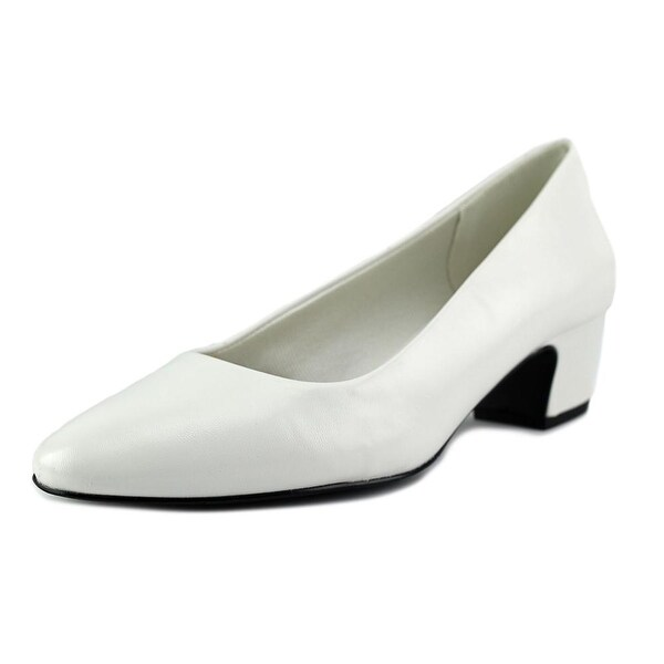 Easy Street Prim Women W Round Toe Satin White Heels