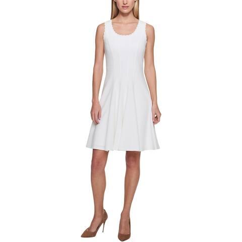 Tommy Hilfiger Womens Wear to Work Dress Pique Sleeveless