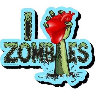 Aquarius I Heart Zombies Chunky Magnet