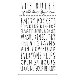 Anna Quach Poster Print entitled Rules of the Laundry Room - multi-color