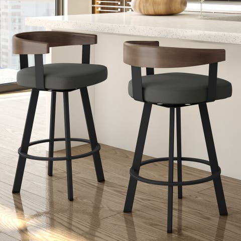 Amisco Lars Swivel Counter and Bar Stool