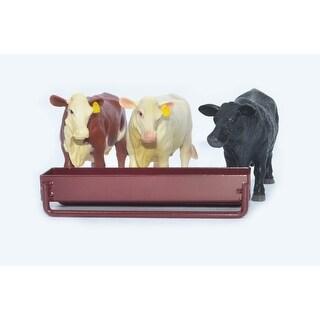 Little Buster Toy Heavy Duty Metal Cattle Grain Feeder Red 500228