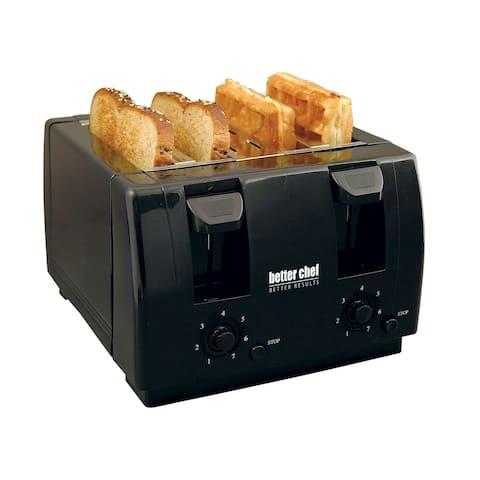 Better Chef 4 Slice Dual-Control Black Toaster IM-242B