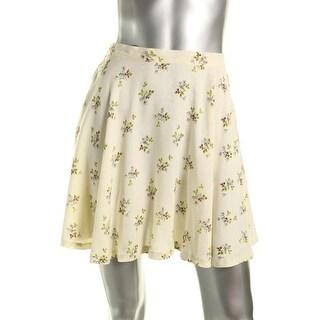 Denim & Supply Ralph Lauren Womens Viscose Floral Print Flare Skirt