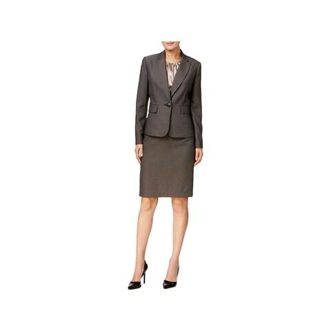 Le Suit Womens St. Augustine Skirt Suit 3PC Textured