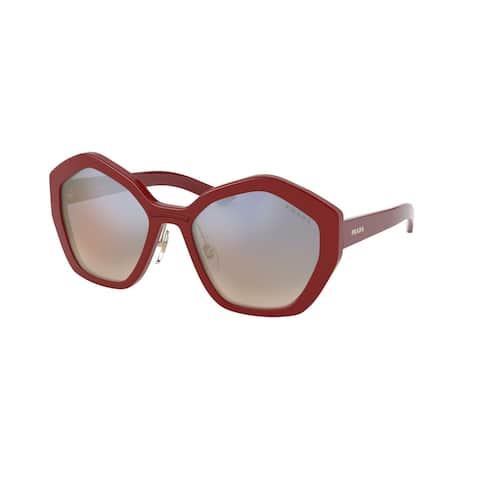Prada PR 08XS 539716 55 Red Woman Irregular Sunglasses