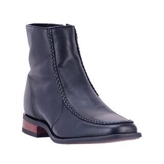 Laredo Western Boots Mens Richmond Braided Moc Zip Round Black 62040
