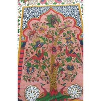Unique Handmade 100% Cotton Tree of Life Peacock Tapestry Tablecloth 85x60