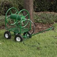 Arksen Water Hose Reel Cart 400 ft Capacity Garden Basket with Easy Turn Handle