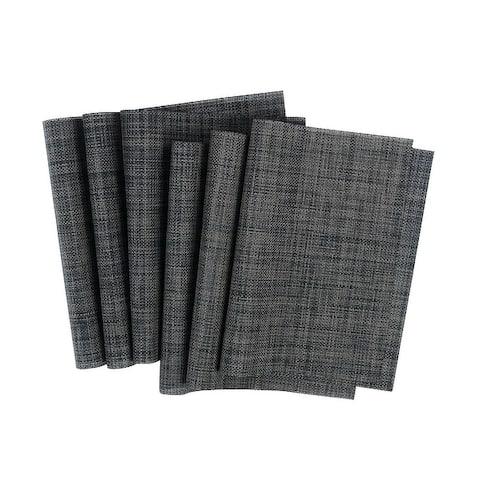 Rectangle PVC Table Mats Kitchen Heat Resistant Placemats - 6 PCS
