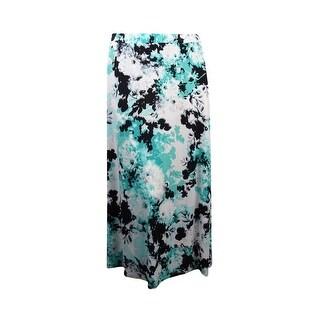 Kasper Women's Full Length Printed Jersey Skirt