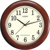 """La Crosse Technology Wt-3122A 12.5"""" Walnut Atomic Wall Clock"""