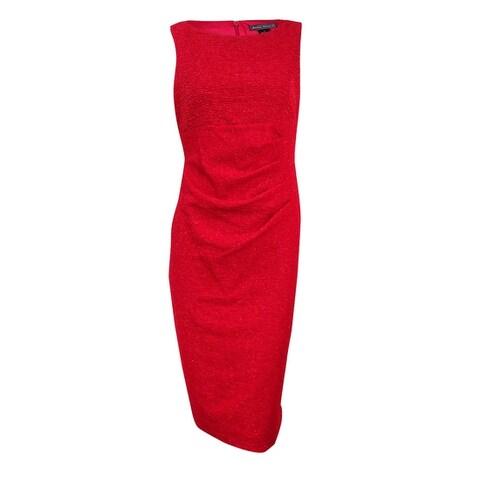 Jessica Howard Women's Sleeveless Glitter Sheath Dress