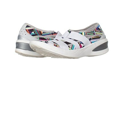 BZees Womens Frill Fabric Low Top Slip On Walking Shoes