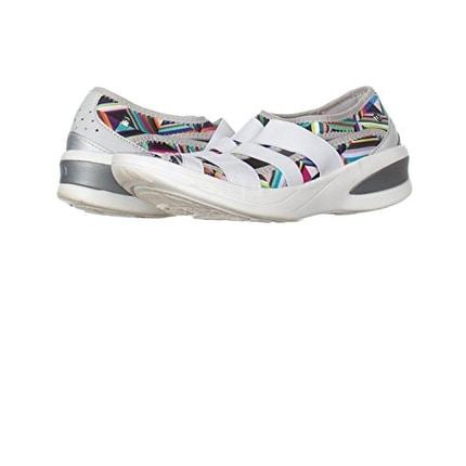 BZees Womens Frill Fabric Peep Toe Boat Shoes