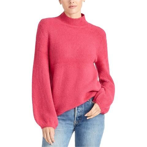 Rachel Roy Womens Ribbed Turtleneck Knit Sweater