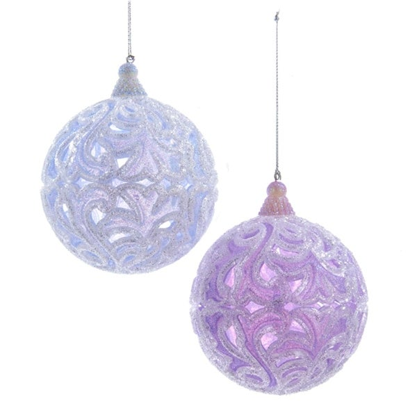 "3.5"" Ice Palace Blue Decorative Christmas Ball Ornament"