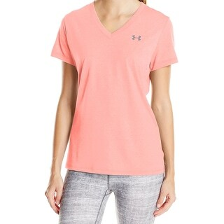 Under Armour NEW Pink Women Size Small S Short Sleeve V-Neck Tee T-Shirt