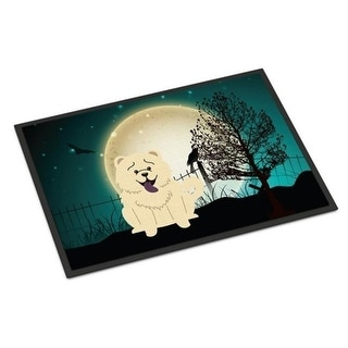 Carolines Treasures BB2330MAT Halloween Scary Chow Chow White Indoor or Outdoor Mat 18 x 0.25 x 27 in.