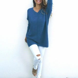 Link to Stylish Loose-Fit Sweater Is Perfect For Keeping Warm Similar Items in Women's Sweaters
