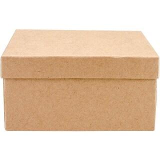 Paper-Mache Square Box Set 5/Pkg-