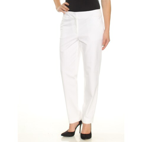 CHARTER CLUB Womens White Flat Front Wear To Work Pants Size: 4