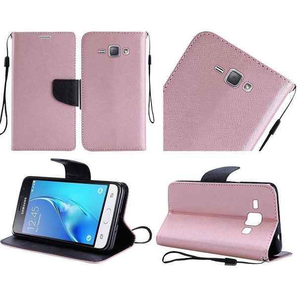 Insten Black Hard PC/ Silicone Dual Layer Hybrid Case Cover with Stand/ Holster For Samsung Galaxy On5
