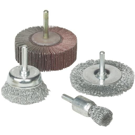 Weiler Brush 4Pc Drill Accessory Kit 36455 Unit: EACH