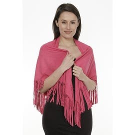 Women's Faux Suede Fringed Cape Shawl Wrap Scarf, Large Triangle|https://ak1.ostkcdn.com/images/products/is/images/direct/b53c5c24a00393ce2438429eb69c9bcadb106a5c/Women%27s-Faux-Suede-Fringed-Cape-Shawl-Wrap-Scarf%2C-Large-Triangle.jpg?impolicy=medium