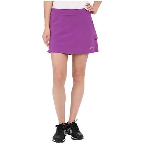 Nike Purple Womens Size XL Golf Innovation Links Woven Skorts