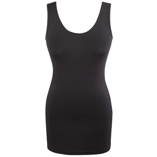 Women's Seamless Tank With Built In Shelf Bra