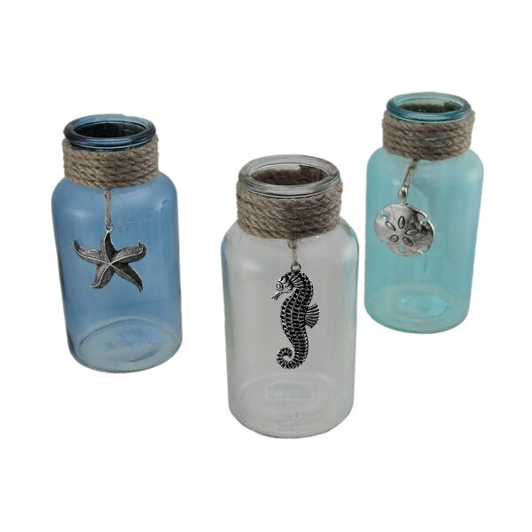 blue com aqua vases home amazon dp recycled kitchen ac glass balloon oval vase