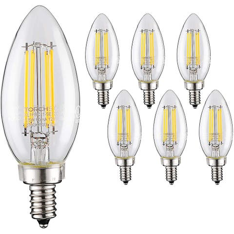 Dimmable LED Filament Candelabra Bulb, 5.5W (60W Eqv.) Vintage Style