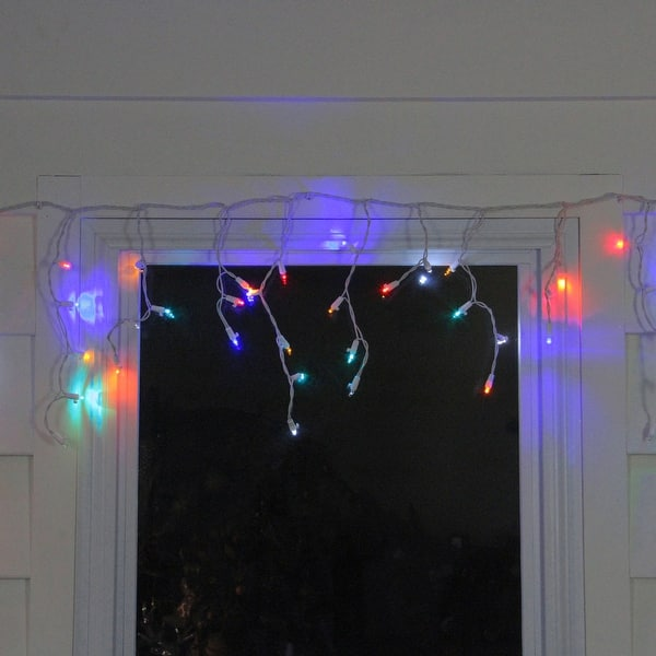 Shop Set Of 60 Multi Color Led Twinkling Icicle Christmas