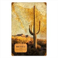 Past Time Signs FAB011 Mexico Map Home And Garden Vintage Metal Sign