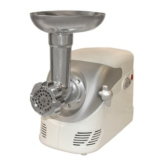 Weston 82-0103-W Electric Meat Grinder, 120 V, White/Silver